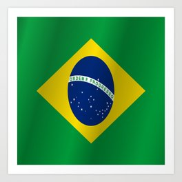 Flag of Brazil Art Print