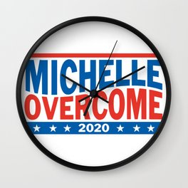 Michelle Overcome 2020 Wall Clock