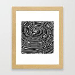 White and black Framed Art Print