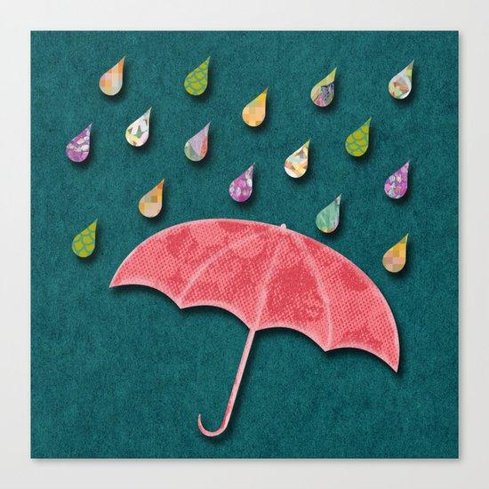 It's raining, it's pouring Canvas Print