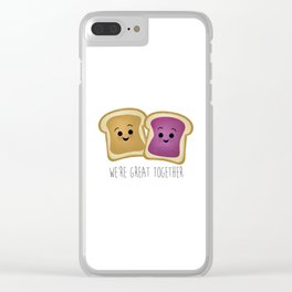 We're Great Together - Peanut Butter & Jelly Clear iPhone Case