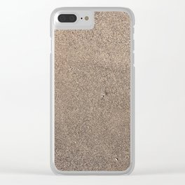 Wet sand Clear iPhone Case