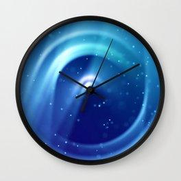 Center of Blue Galaxy Wall Clock