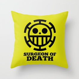 Surgeon Of Death Throw Pillow