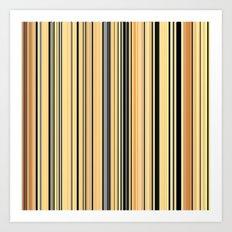 High Society Vintage Rustic Glam Stripes 001 Art Print