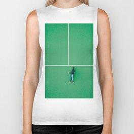 Tennis court green Biker Tank