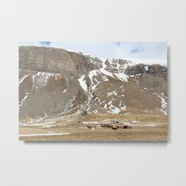 In the shadow of the hills Metal Print