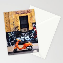 Orange Scooter Stationery Cards