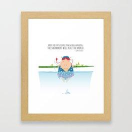Tifanny - Swimmer Framed Art Print