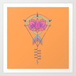 Symbol Art:  Lotus Magic Art Print