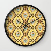 southwest Wall Clocks featuring Southwest  by Mia Valdez
