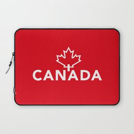 Canada with Maple Leaf Laptop Sleeve