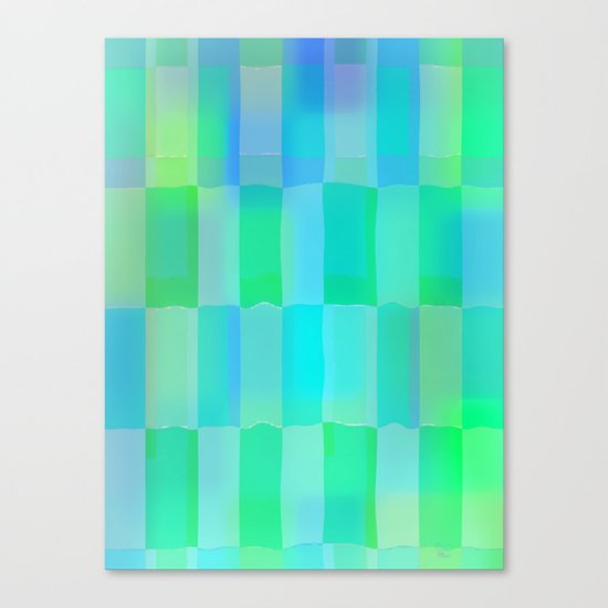 Aqua Pattern Canvas Print
