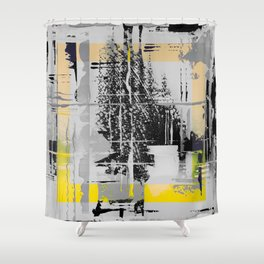 Sunday Morning - b/w graphic Shower Curtain