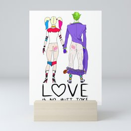 LOVE is no BUTT Joke - Handwritten Mini Art Print