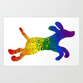 Pride Puppy Art Print