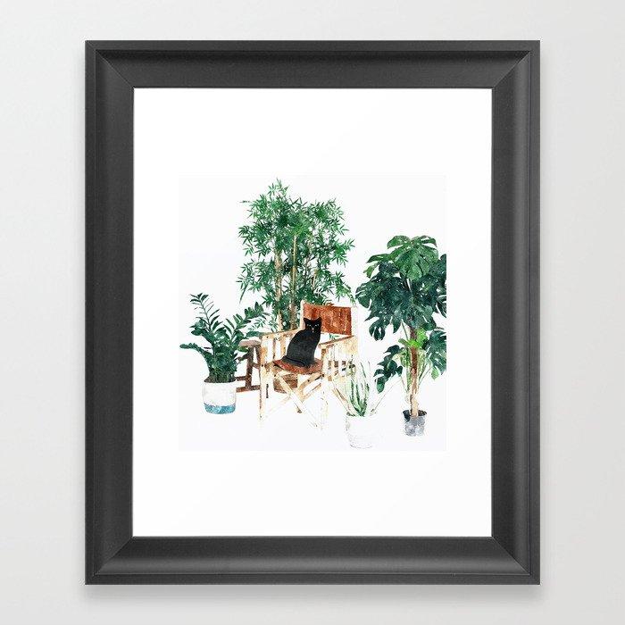 Boho Kitty Framed Art Print