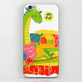 Knitting Dragon iPhone Skin
