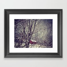 Out Behind The Barn  Framed Art Print