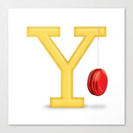 Y is for Yo-Yo Canvas Print
