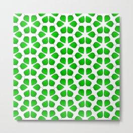 Summer Leaf Green Gradient Vegetation Pattern Metal Print