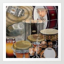 Percussion Instruments Art Print