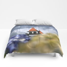 Church tower Comforters