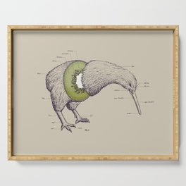 Kiwi Anatomy Serving Tray