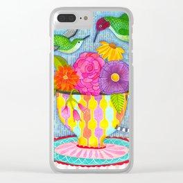 hummingbird tea Clear iPhone Case