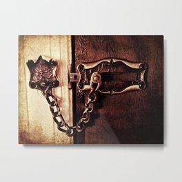 Original Slide to Unlock Metal Print