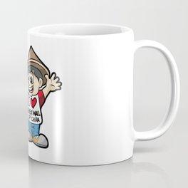 I LOVE GREAT WALL OF CHINA Chinese Fan Vacation Coffee Mug