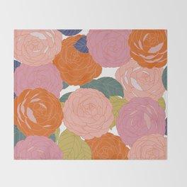 Flowers In Full Bloom Throw Blanket
