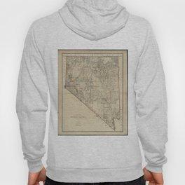 Vintage Map of Nevada (1894) Hoody