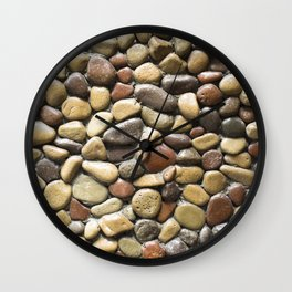 Wall pebble pattern Wall Clock