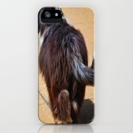 Dog walking away iPhone Case