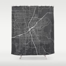 Huntsville Map, USA - Gray Shower Curtain