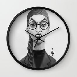 Young Wicked Witch Wall Clock