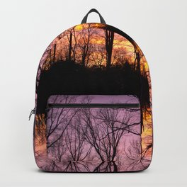Sunset Beyond The Trees Backpack