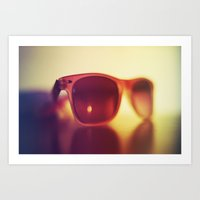 sunglasses Art Prints featuring Sunglasses by Marko