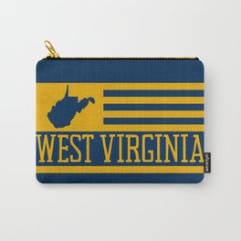 West Virginia State Map Flag WV Home 304 Pride USA Carry-All Pouch