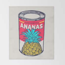 Condensed ananas Throw Blanket