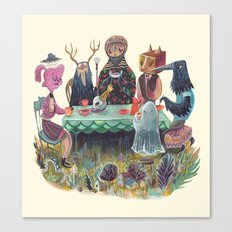 The Art of ruining conversation at dinner parties Canvas Print