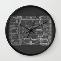 playstation Wall Clocks featuring PlayStation One  by Georg Bodenstein