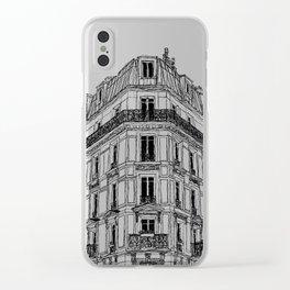Parisian Facade Clear iPhone Case