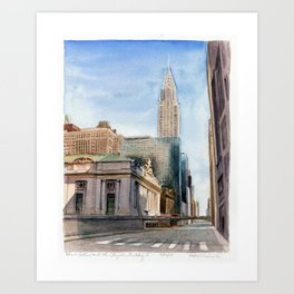 Grand Central Station and the Chrysler Building I Art Print