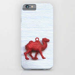 Genetically challenged camel trying to cross the blue mirage iPhone Case