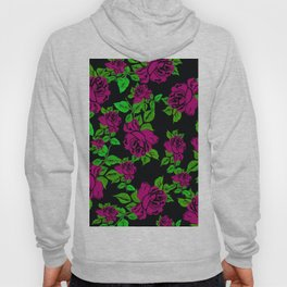 ROSES ROSES PINK AND GREEN Hoody
