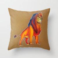 luigi Throw Pillows featuring luigi  by eyal mor