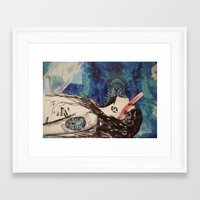 battlestar Framed Art Prints featuring Battlestar by Angel Marie