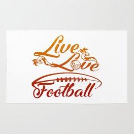 LIVE - LOVE - FOOTBALL Rug